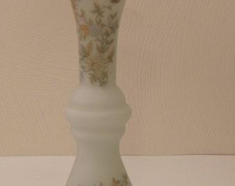 """10"""" Glass Vase Made In  Peru-Floral Vase-Antique Vase-Vases-Antique Vase-Vintage Vase-Butterfly Vase-Vase Gifts-Vase For House Warming Gift"""