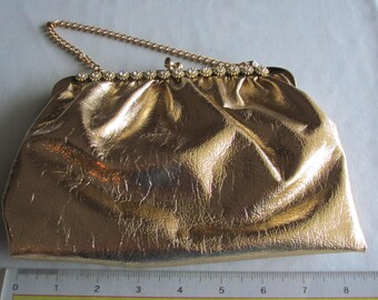 60's Gold Handbag For Weddings, Proms, Derbies, Holidays, Western Dances, Cruises, Dinners, Chairty Balls, Theater, Art Shows