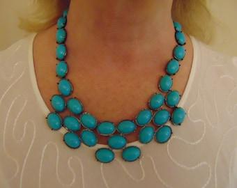 Bill Blass Jewelry-Vintage Bill Blass Jewelry-Turquoise Jewelry Trio For Rodeos, Equestrian Events, Derbies,Western Dances,Country Weddings