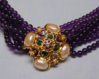 80's Elizabeth Taylor Forever Violet Necklace Perfect For Easter, Mothers Day, Traveling, Entertainers, Rodeos, Derbies And Weddings