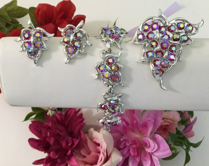 Sarah Coventry Clip Earrings-Pendant Converts To Brooch-Bracelet For Weddings,Rodeos,Gallery Openings,Theater,Zoom Meetings-Church-Operas