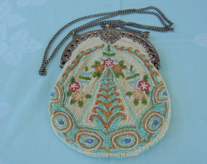 Vintage Beaded Flapper Bag, Vintage Bag For Cruises, Weddings, Western Dances, Chairty Balls, Derbies, Holidays, Theater, Musicals, Dinners