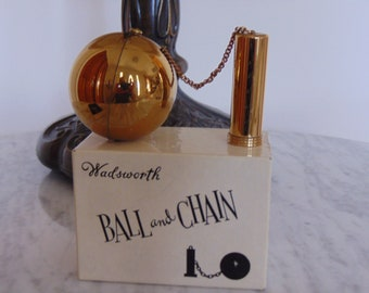 Wadsworth Ball And Chain 40's Compact And Lipstick Holder For The Collector,Gifts,Ladies Vanity Table,Novelty Compacts,Arts