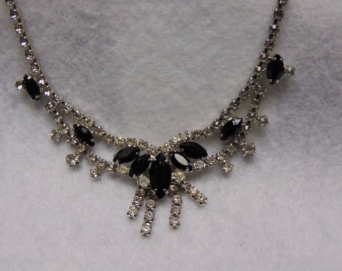 50's Rhinestone Necklace For Holiday, Party, Prom, Wedding, Traveling, Entertainers, Kentucky Derby, Western Dancing, Rodeos