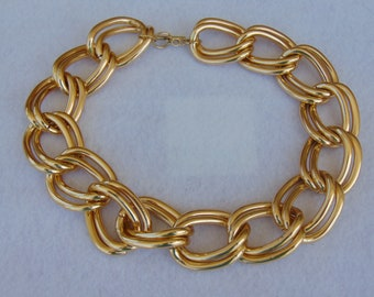 80s Big Bold Bulky Chain Necklace For Pool Parties, Horse Shows, Concerts, Dances, Rodeos, Cruise Wear, Disco Dance, Theater And More
