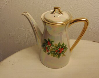 China Teapot, Christmas Teapot, Vintage Teapot, Antique Teapot, Teapot For Housewarming Gift, Teapots, Kitchen Teapot, German Teapot