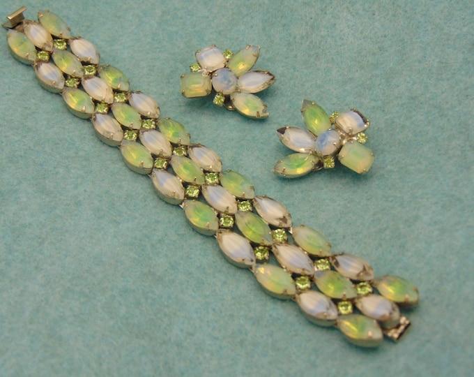 KRAMER 60's Bracelet & Clip On Earrings For Weddings, Holidays, Cruises,Western Dance, Chairty Balls, Rodeos, Derbies, Proms, Dinner Parties