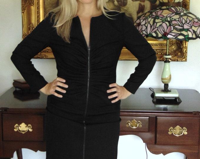 Oscar de la Renta Sz 10 Black Dress For Business,Theater,Gallery Openings,Art Shows,Dinner Party,Church,Weddings,Traveling,Charity Luncheons