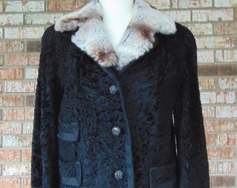Vintage Persian Lamb Jacket For Old Hollywood Glam,Vintage Fur Lovers,Church,Opera,Theater,Gallery Openings,Art Shows,Musicals,Traveling,Art