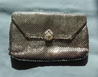 Silver Mesh Clutch  Handbag For Weddings, Proms, Holidays, Dinner Theater, Musicals, Gallery Openings, Chairty Balls, Art Shows, Travel