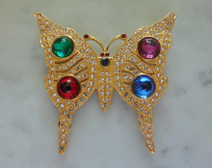 80s Butterfly Brooch Fun For Summer Parties, Garden Parties, Church Events, Weddings, Music Festivals, Barn Parties, Western Dances, Derbies