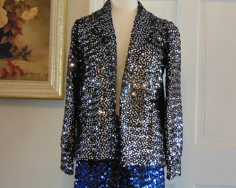 Sequin Jacket For Rodeos,Horse Shows,Derbies,Operas,Western Dances,Holidays,Weddings,Parties,Gallery Openings,Cruises,Theater,Dinner Dances