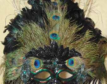 Gypsy Renaissance Mask For New Years Eve., Mardi Gras, Costume Parties, Masquerade Parties, Art Festivals, Halloween Parties & Home Decor
