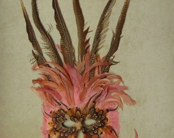 Gypsy Renaissance Nymph Mask For New Years Eve. , Mardi Gras, Halloween, Art Festivals, Masquerade Parties, Costume Parties, Arts & Crafts