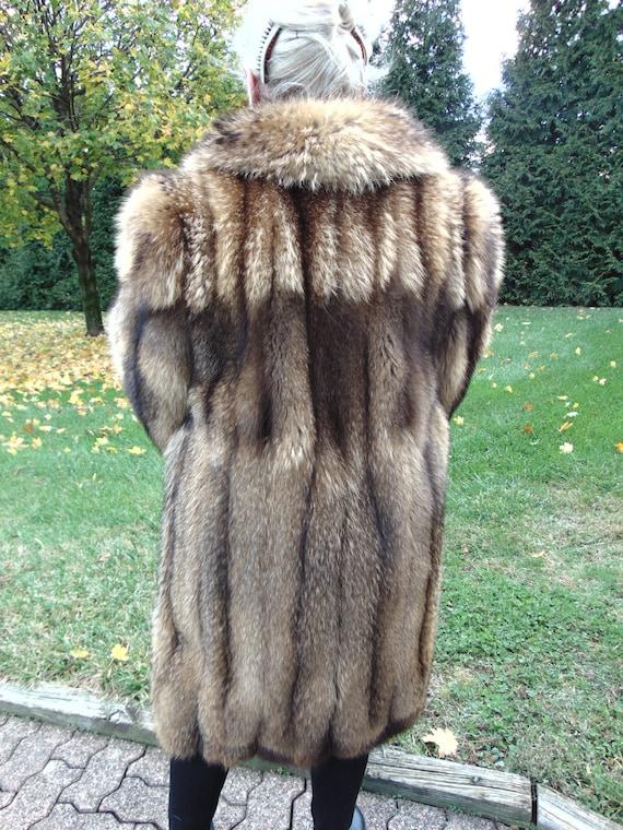 Racoon Fox Fur Stroller-Ladies Fur Coat-Unisex Fur