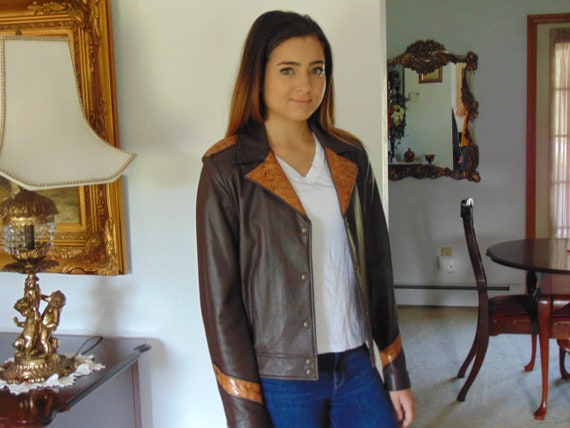 Vintage Ladies Leather Jacket, Leather Jacket, Wes