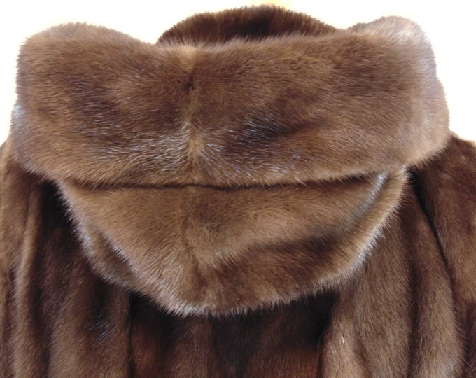 Mahogany Mink Parka For Church-Traveling-Resort Wear-Dinners-Gallery Openings-Operas-Theater-Art Shows-Country Clubbing-Gifts For Your Lady