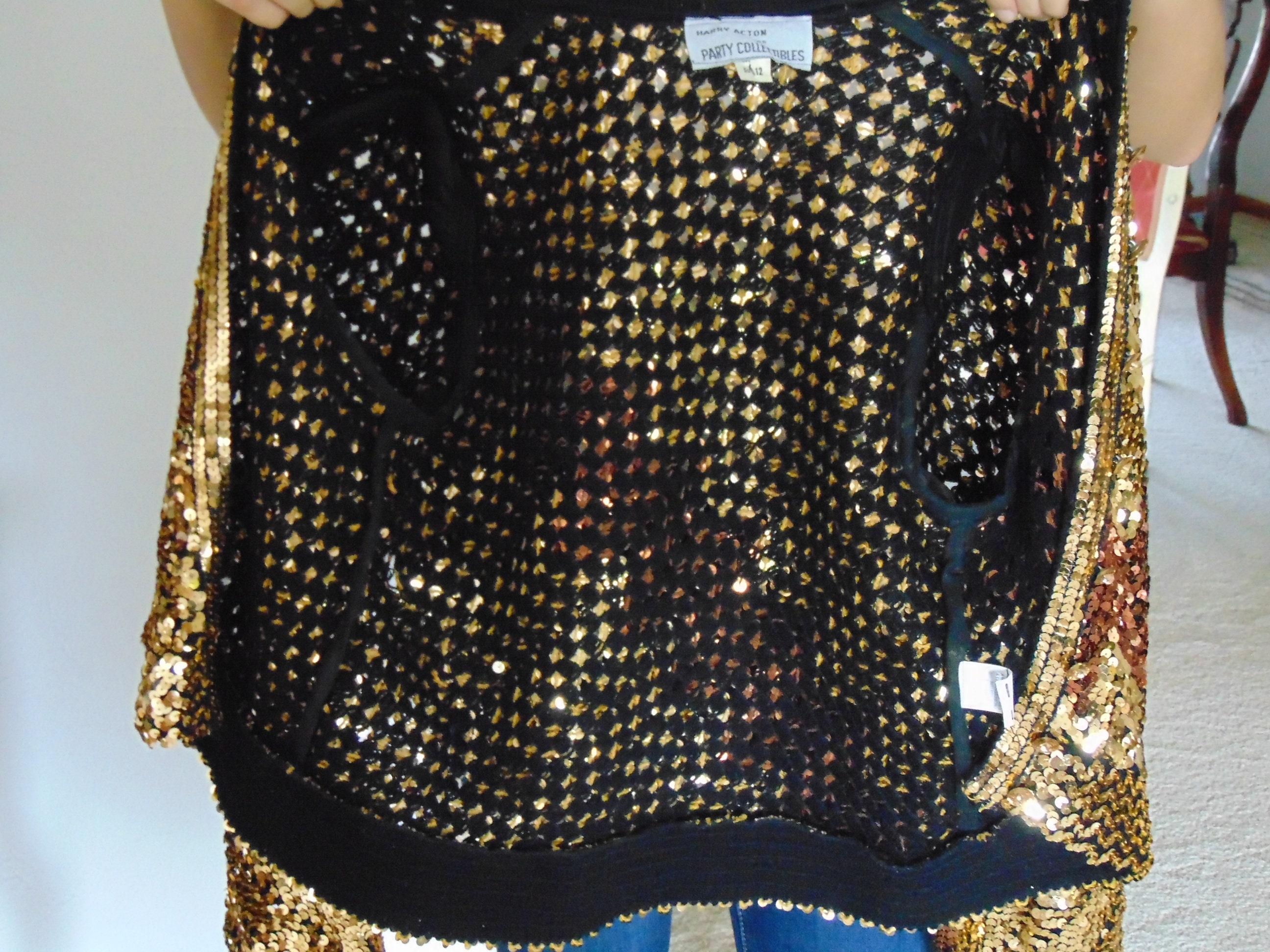 907b41e5 70's Sequin Jacket, Sequin Shrug, Vintage Sequin Fashion, Sequin ...