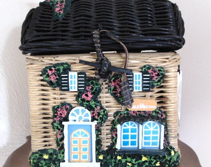 Timmy Woods Cottage Purse-Retired Timmy Woods Purse-Cottage Purse-Designer Purse-Handmade  Timmy Woods-Cottage Lovers Art-Cottage Home Decor