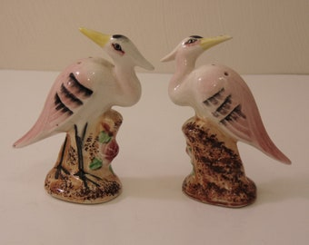 50s Flamingo Salt And Pepper Set For S&P Collectors,Poolside Parties,Florida Rooms,Salt And Pepper Shakers, 50s SnP Sets