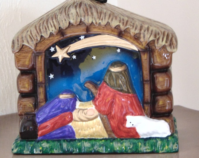Timmy Woods Retired Nativity Purse-Wooden Nativity Purse-Christmas Purse-Designer Purses-Christmas Home Decor-Collectible Purses-Timmy Woods