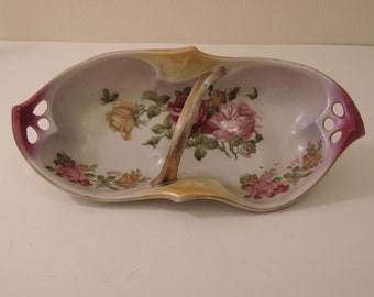 Antique Germany Handled Celery Dish For Holidays, Entertaining, Dinner Parties, House Warming Gifts, Collectors, Home Decor,