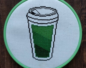 Full Coffee Battery Cross Stitch pattern