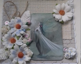 Beautiful Fairy and Flowers Card