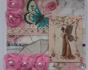 Beautiful Shabby Chic Vintage Style Fairy Card