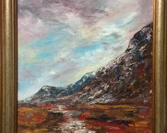 Oil Painting Scottish Landscape - Glencoe