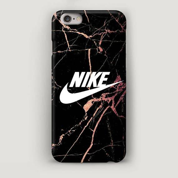 Nike iPhone 7 Plus Hülle schwarzer Marmor iPhone 5 s Fall