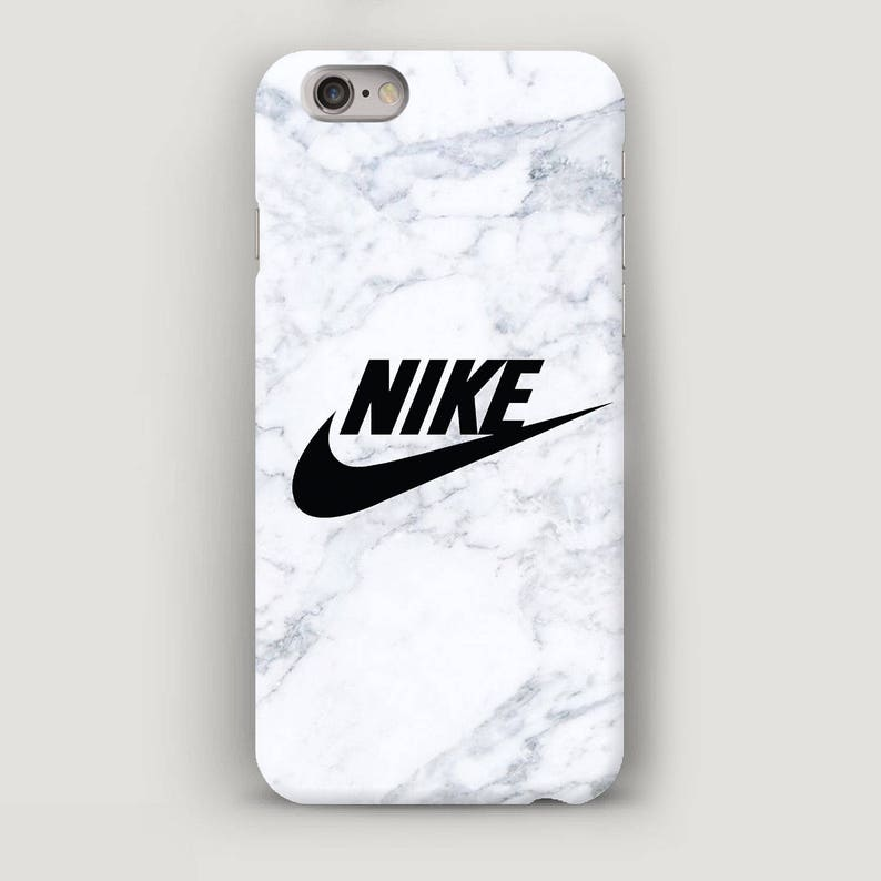 bb43d63b05d6 White Marble Cell Phone Case Nike iPhone Cover Apple Case