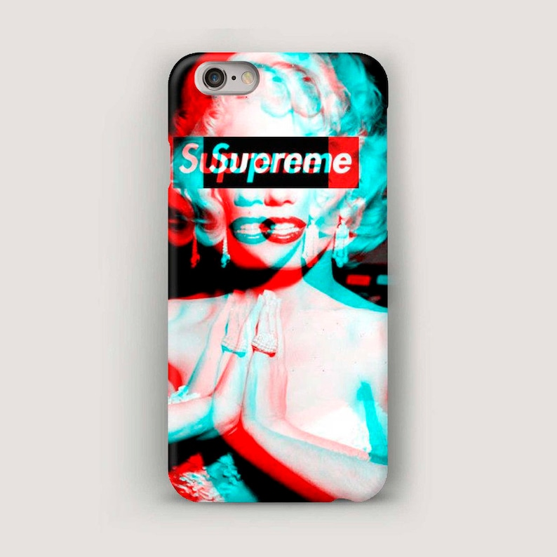 the latest c78a9 918e5 Supreme iPhone 7 Case, Marilyn Monroe iPhone 6 Plus Case, Phone Case,  iPhone 5 Case, Galaxy S6 Case, iPhone 6S Cover, Supreme Case iPhone