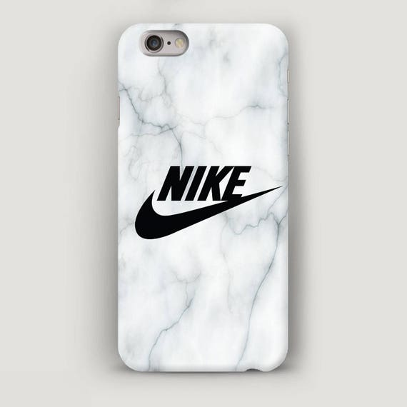 White Marble iPhone 7 Plus Case, Nike iPhone 6S Case, White iPhone SE Case,  Apple iPhone Case, iPhone 6 Case Cover, Marble iPhone 5 Case