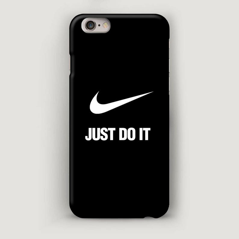 promo code ecb83 c362b Just Do It Phone Case, iPhone 7 Case, Black iPhone SE Case, Nike iPhone 6  Plus Cases, Phone Cover, Minimalist Apple Case, Nike iPhone 5 Case