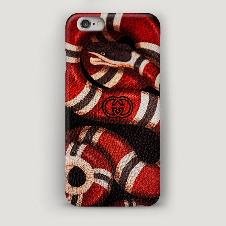 sports shoes 43e94 27c26 Gucci Snake iPhone 7 Case, iPhone 6S Case, Red Snake Phone Cover, Gucci  iPhone 7 Plus Case, Fashion Case iPhone 6, Gucci Case
