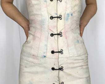 Funky Handmade And Dyed Leather Dress