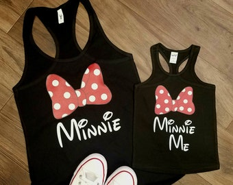 06452034ef75b Disney World. Disney Vacation. Mommy & Me. Minnie Mouse. Personalize.  Custom. Matching Shirts. Matching Tank. Birthday. Gift. Family Shirts.