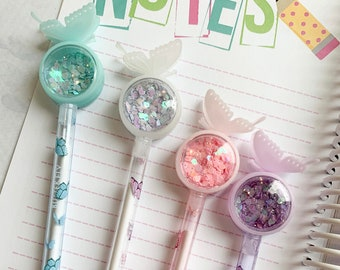 Butterfly Planner Pen Butterfly Party Gift Favor Butterfly Baby Shower Party Favor Gifts Under 10 Butterfly Confetti Pens Gift for Her