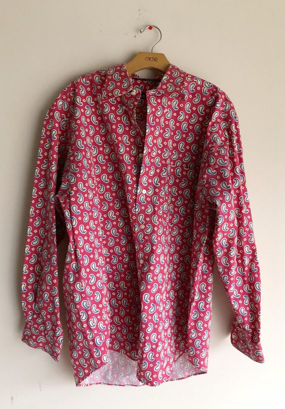 Nautica Vintage Red Patterned Button Down Shirt //