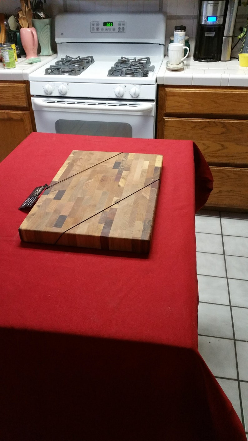 Endgrain butcher bloc cutting boar #1