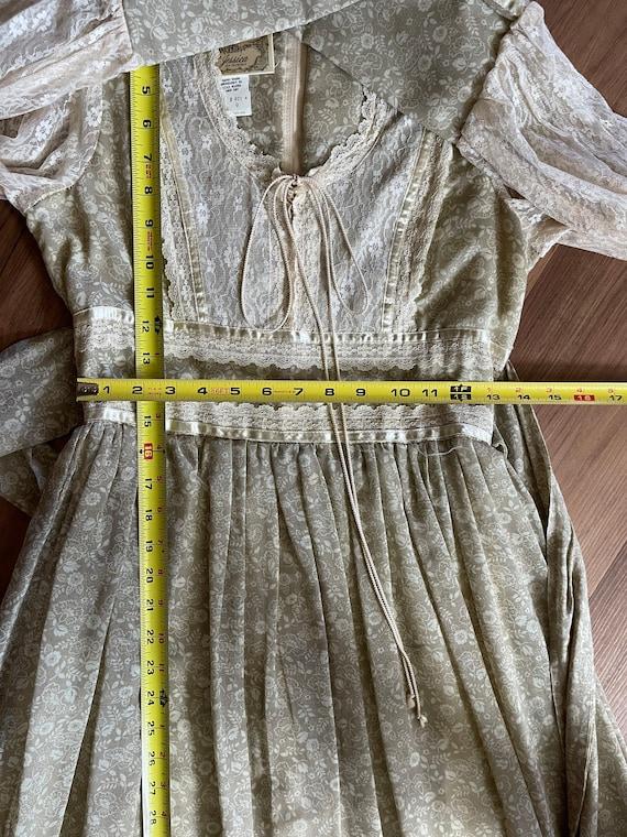 Vintage Gunne Sax Maxi Cottagecore Dress - image 10