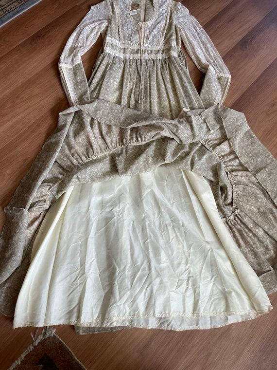 Vintage Gunne Sax Maxi Cottagecore Dress - image 4