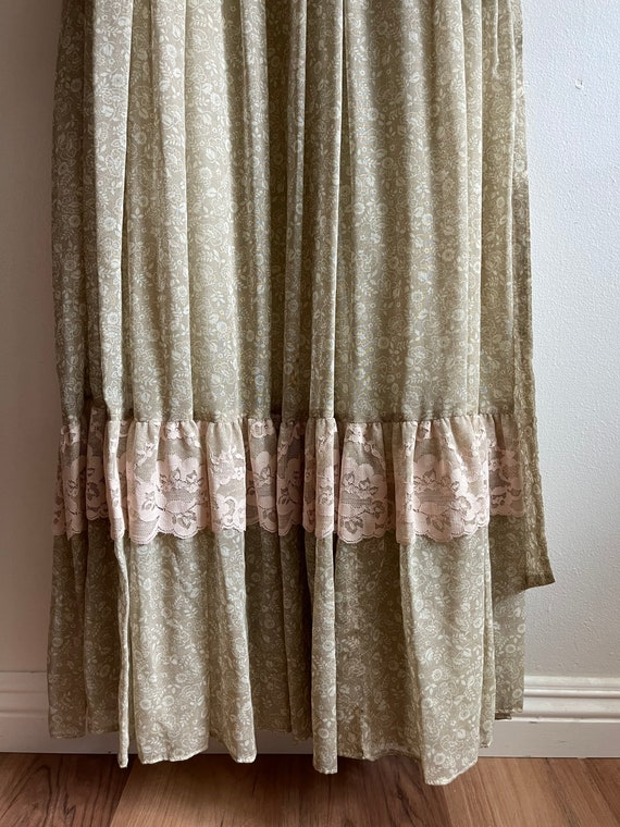 Vintage Gunne Sax Maxi Cottagecore Dress - image 8