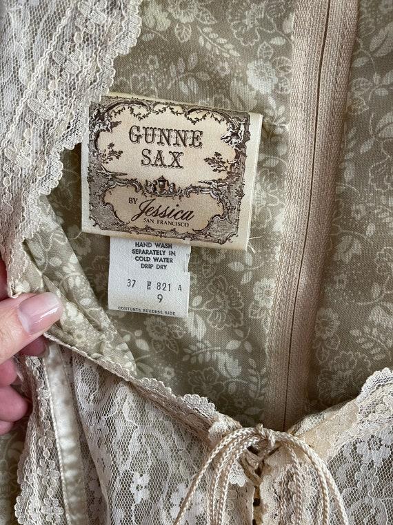 Vintage Gunne Sax Maxi Cottagecore Dress - image 3