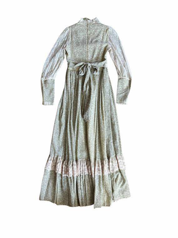 Vintage Gunne Sax Maxi Cottagecore Dress - image 2