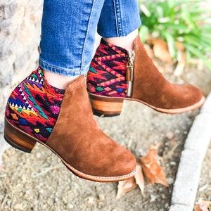 Ankle Boots Guatemalan Boots Guatemalan Booties Ankle Guatemalan Boots Women Booties Women Boots Women Shoes Pink Boots Pink Ankle Boots