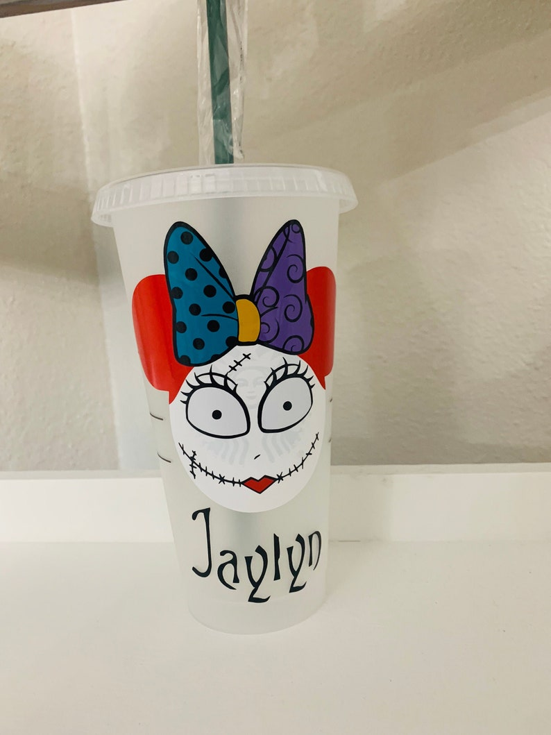 Starbucks Tumbler Disney Tumbler Nightmare Before Christmas Sally Starbucks Cold Cup Personalized Starbucks Cup Sally
