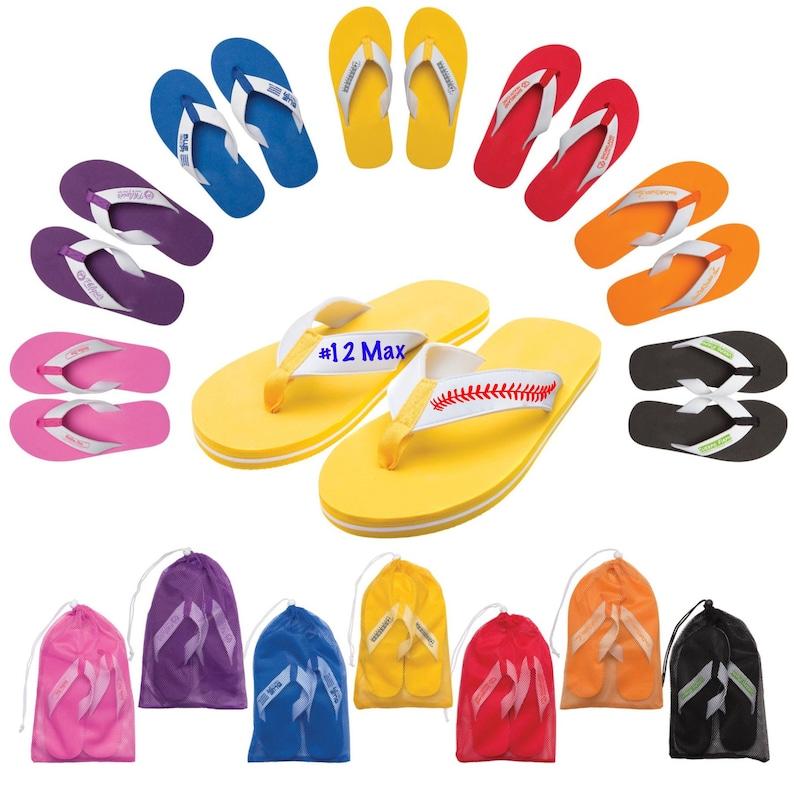 70d545b5de0692 Custom flip flops soccer cheer baseball softball swim