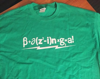 Bazinga Shirt (on Black unless stated in notes)